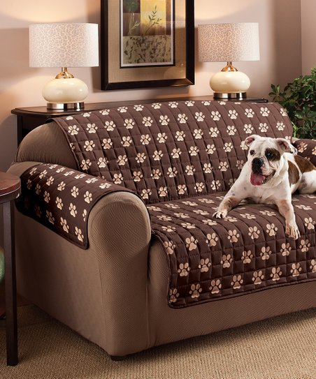 Jeffrey Home Chocolate Paw Prints Pet Furniture Protector  1529d9a72c