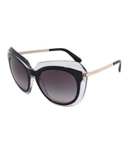 2426166225de Dolce   Gabbana Black   Gray Gradient Oversize Square Sunglasses ...