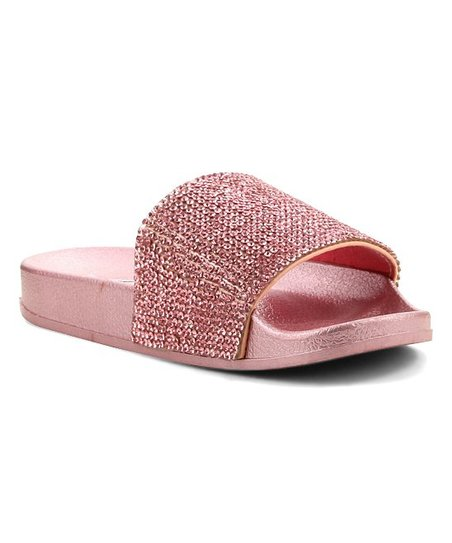 Pink Glitter-Accent Slide
