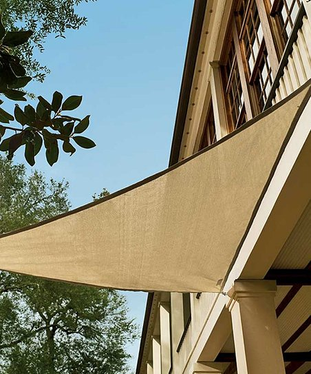Plow Hearth Sand Small Fade Resistant Sun Blocking Triangle Shade
