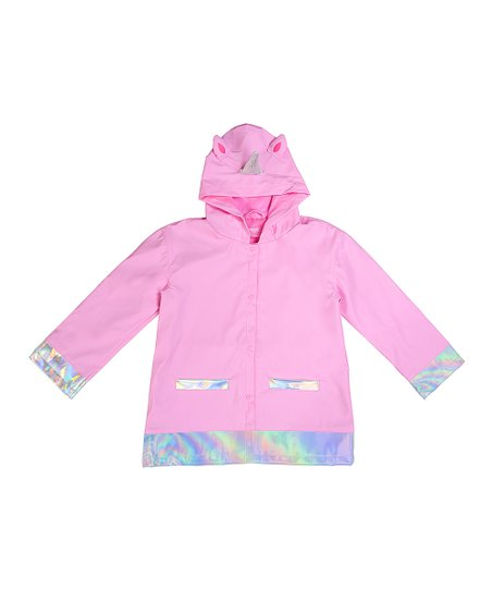 d4b33cbeebfa Capelli New York Pink Unicorn Raincoat - Toddler