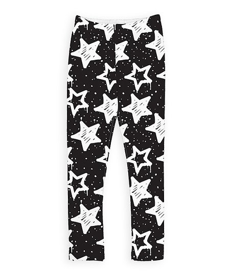 56445fdcfc3a6 love this product Black & White Stars Leggings - Toddler & Girls