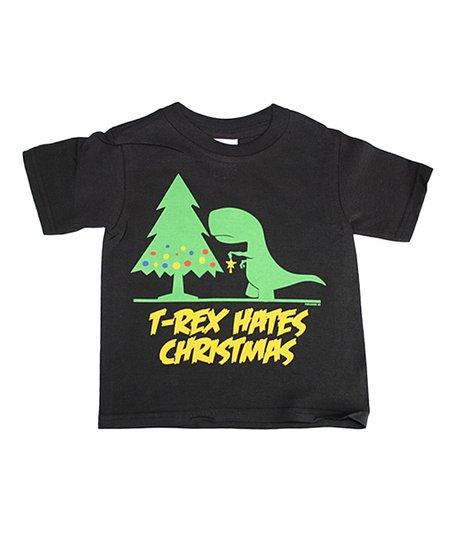 bc942196a Childrens Park Avenue Black T-Rex Hates Christmas - Toddler & Kids ...