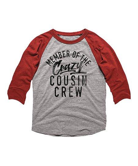 ee1e579ee56 Vintage & Red 'Crazy Cousin Crew' Raglan Tee - Toddler & Kids