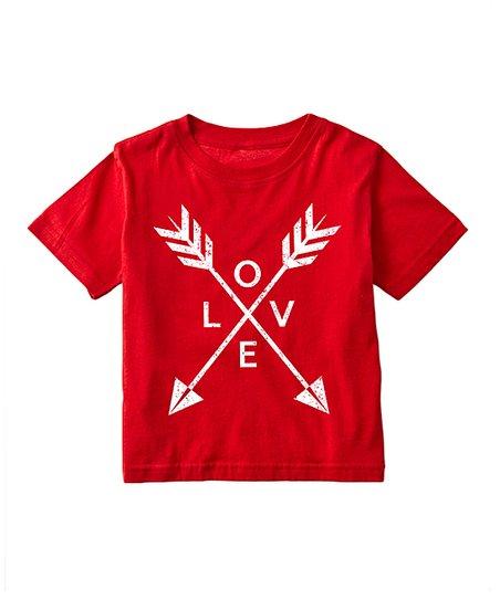 Red 'Love' Arrows Tee - Toddler & Kids