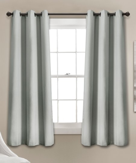 aa7b6d318b0a love this product Light Gray Absolute Blackout Window Curtain Panels - Set  of Two