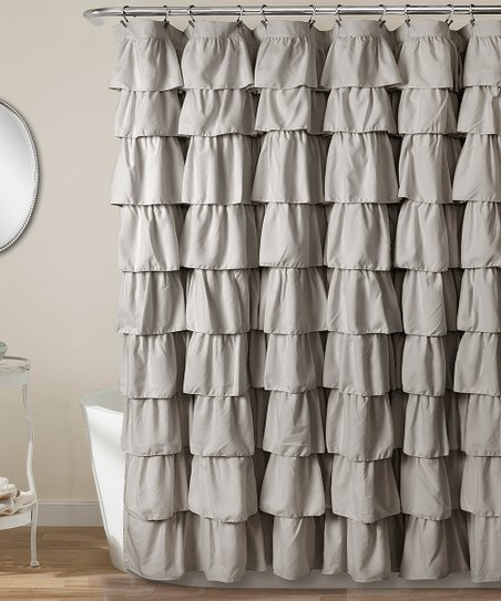 Love This Product Gray Ruffle Shower Curtain