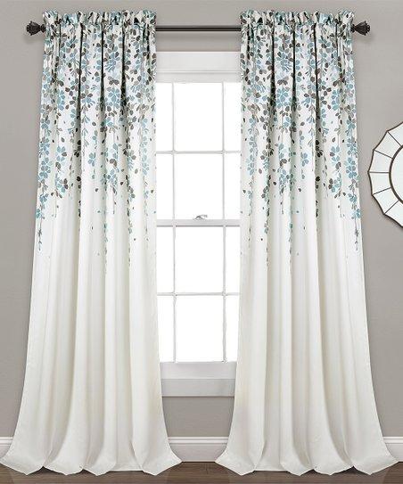 Blue Gray Weeping Flower Room