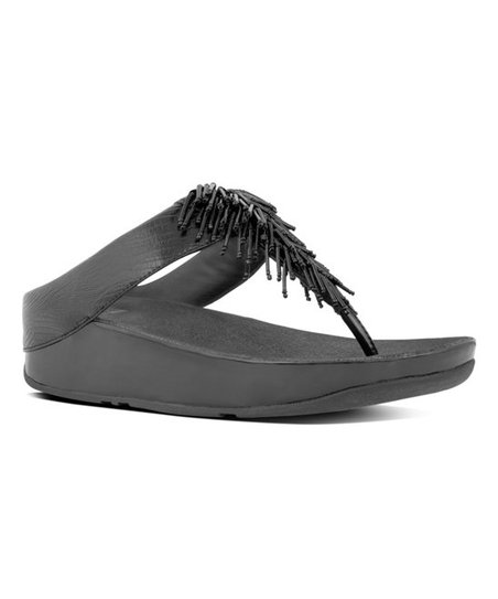 a35338717 FitFlop Black Cha Cha Leather Sandal - Women