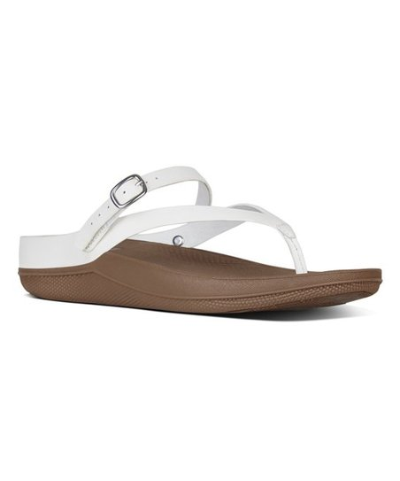 a92f5fb75b0c04 love this product Urban White Flip Convertible Leather Sandal - Women