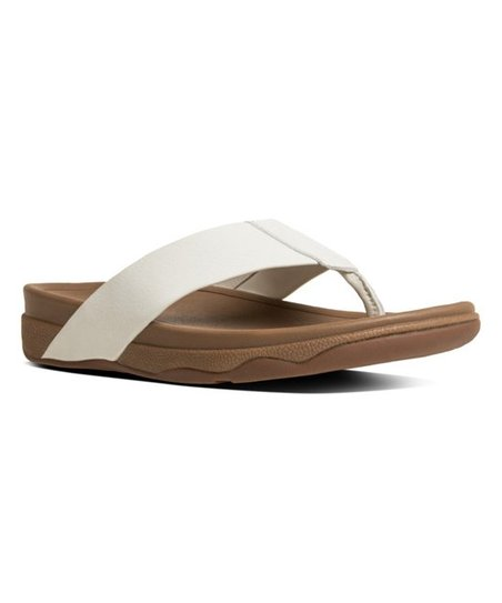 fce7528e3dedc FitFlop Urban White Surfer Leather Sandal - Men