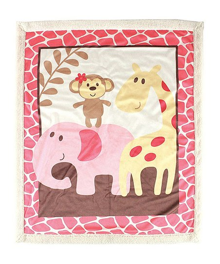 4d452f52ffcd Luvable Friends 30 x 36 Pink Stone Print Jungle Fleece Blanket | Zulily