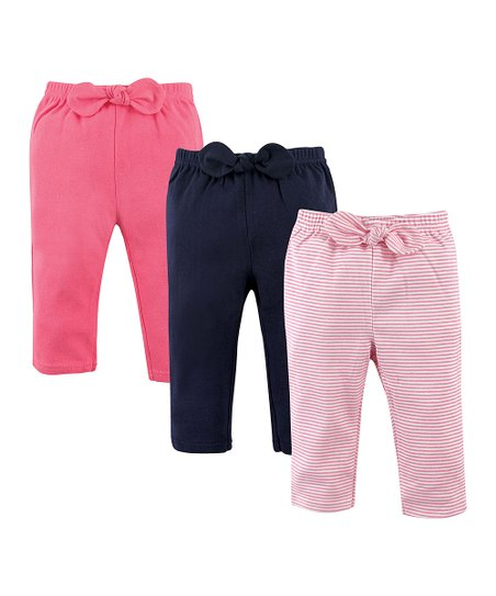 6851b940394c33 love this product Pink & Navy Stripe Joggers Set - Newborn, Infant, Toddler  & Girls