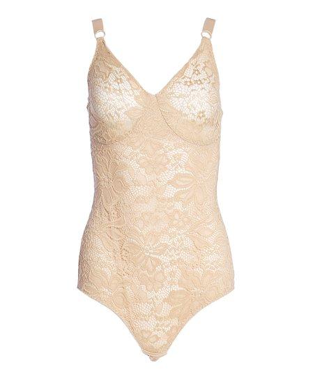 13f8d0564e Joan Vass Nude Lace Control Bodysuit - Women