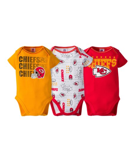 new style 66bf0 02f0d Gerber Childrenswear Kansas City Chiefs Short-Sleeve Bodysuit Set - Infant
