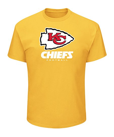48536ed0 Majestic Athletic Gold Kansas City Chiefs Logo Screen-Print Tee - Men, Big  & Tall