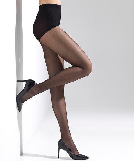 1ce40fe1439 Natori Black Silky Sheer Control-Top Pantyhose