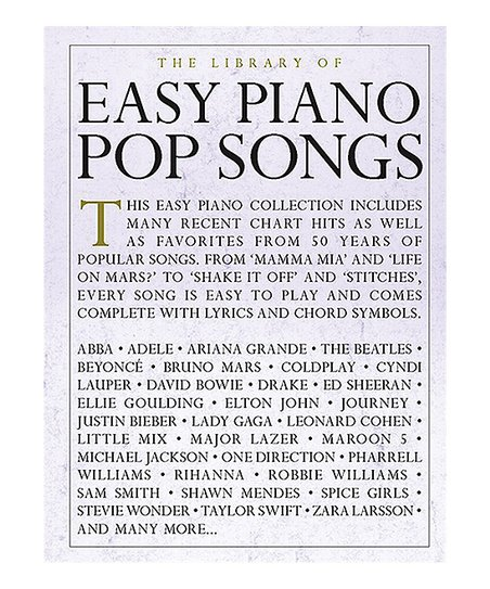 Hal Leonard The Library Of Easy Piano Pop Songs Sheet Music Book
