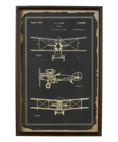 Airplane blueprint framed wall art zulily airplane blueprint framed wall art malvernweather Image collections