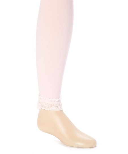 e108a34022b04 The Princess Pea Light Pink Lace Trim Leggings - Toddler | Zulily