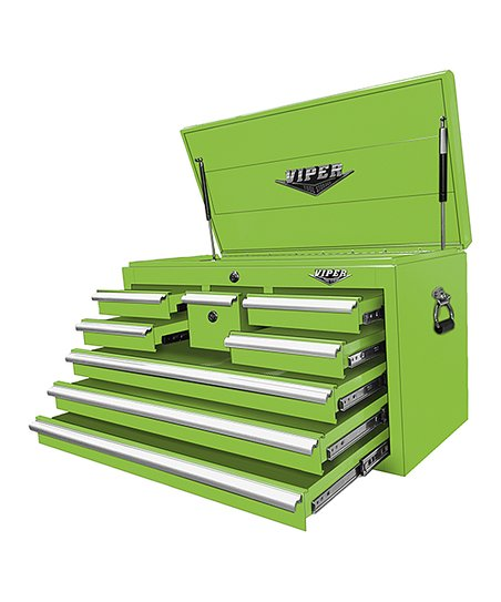 The Original Pink Box Lime Eight-Drawer Tool Chest  43eb253eb2