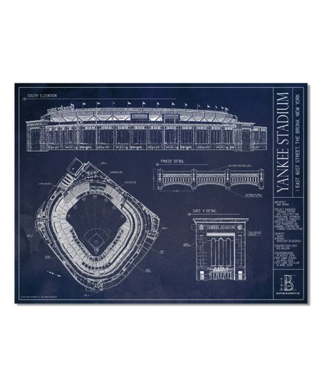 Ballpark blueprints new york yankees yankee stadium print zulily new york yankees yankee stadium print malvernweather Image collections