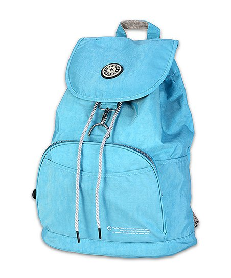 32516200ad Her First Pair Baby Blue Drawstring Backpack