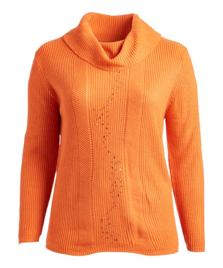 Abito Orange Cowl Neck Sweater Plus Zulily