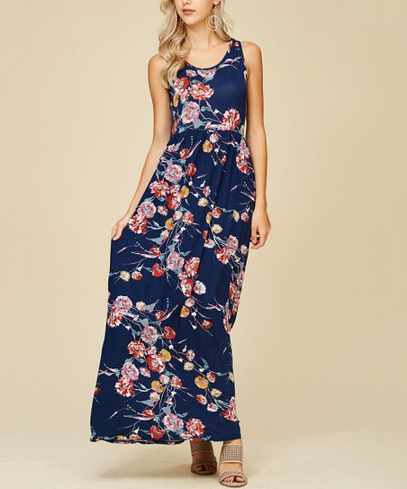 22cd6d892b44 Annabelle LA Floral Print Tank Maxi Dress
