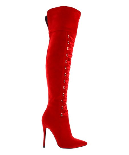 b54ba76fcc844d love this product Red Gianna Over-the-Knee Boot - Women