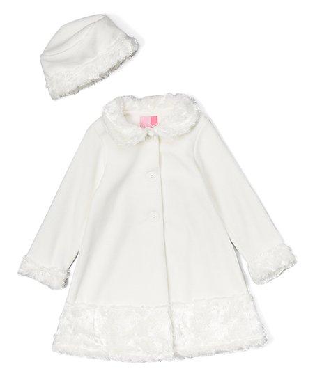 b87d77064 Good Lad Crème Fleece Swing Coat   Hat - Infant