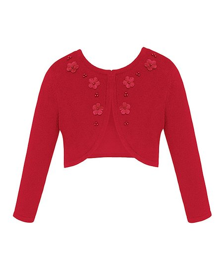 f3fafbe7b Couture Princess Red Flower   Pearl Cardigan - Infant