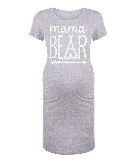 467481de love this product Athletic Heather 'Mama Bear' Maternity T-Shirt Dress