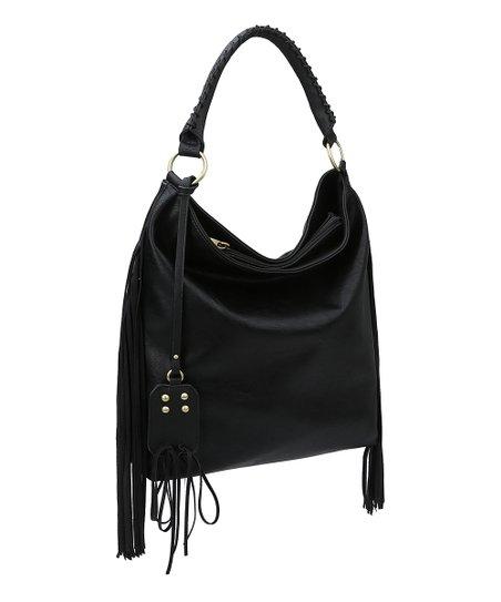 cfd4b3d8c700 Handbag Republic Black Side Fringe Shoulder Bag