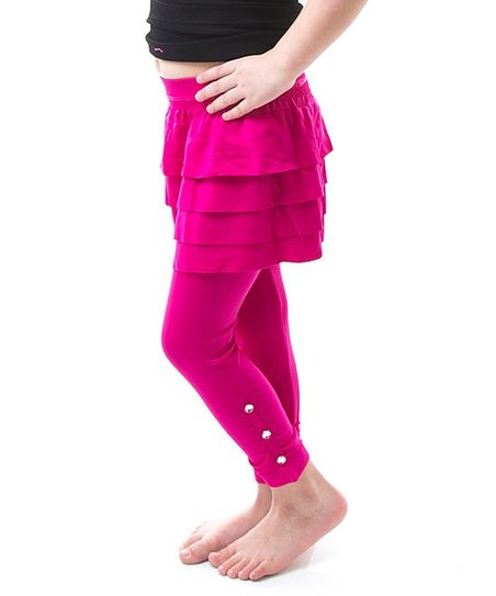 7a90b5dcc683 Soho Apparel Fuchsia Ruffle Skirted Leggings - Girls