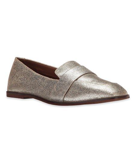 Kenneth Cole Reaction Soft Gold Glide Slide Leather Loafer
