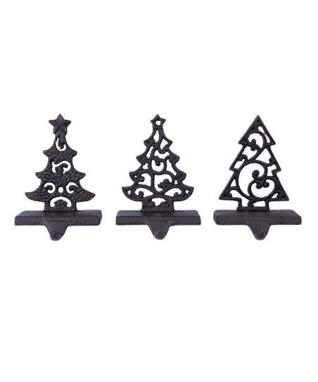 Christmas Tree Stocking Holder.Cast Iron Christmas Tree Stocking Holder Set