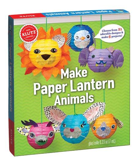 Klutz Make Paper Lantern Animals Craft Book Zulily