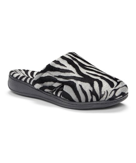 a160e5a417181 Vionic Dark Gray Zebra Gemma Slipper - Women