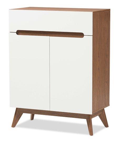 Baxton Studio White Walnut Calypso Wood Shoe Storage Cabinet Zulily