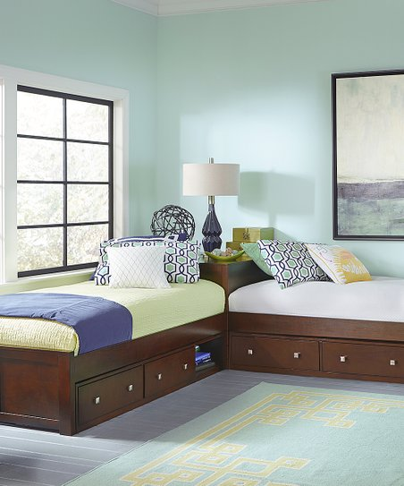 Cherry Pulse L Shape Bed & Double Storage Trundle   Zulily