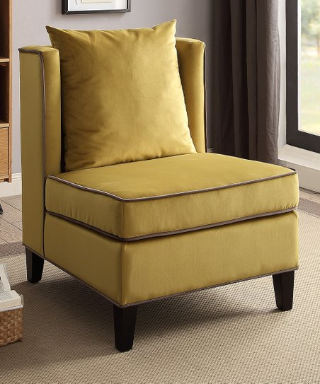 Marvelous Acme Furniture Inc Yellow Ozella Accent Chair Squirreltailoven Fun Painted Chair Ideas Images Squirreltailovenorg