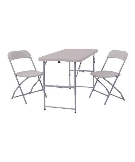 Avesix Blow Mold Three-Piece Folding Table Set  595965067c