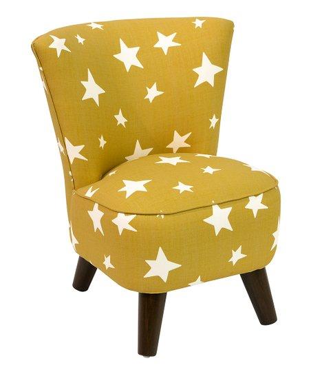 Marvelous Yellow Stars Linen Blend Modern Kids Chair Zulily Creativecarmelina Interior Chair Design Creativecarmelinacom