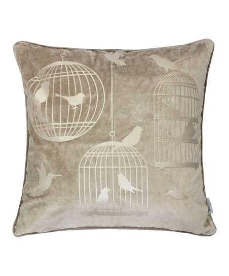 Super Home Accent Pillows Mocha Bird Cage Throw Pillow Zulily Gmtry Best Dining Table And Chair Ideas Images Gmtryco