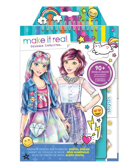 Make It Real Digital Dream Fashion Design Sketchbook Set Best Price And Reviews Zulily