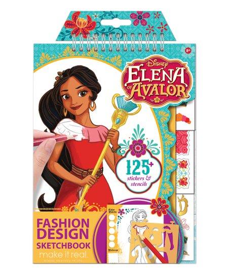 Make It Real Elena Of Avalor Fashion Design Sketchbook Set Zulily