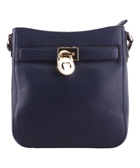 Michael Kors Navy Blue Hamilton Leather Traveler Crossbody Bag 7497e6712ba64