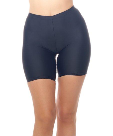 09f4acf4c6 Love My Curves Black Bike Short Swim Bottoms - Women & Plus | Zulily