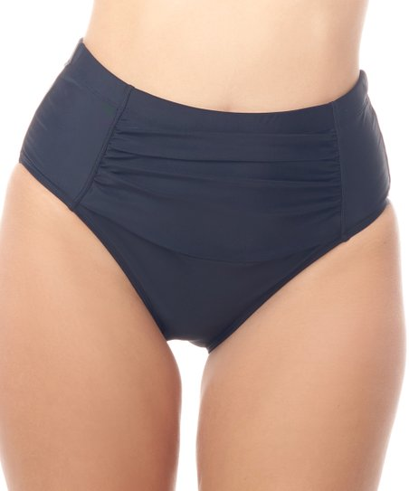d1ffe9452c957 Love My Curves Black Ruched High-Waist Bikini Bottoms - Women   Plus ...